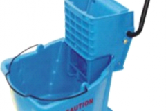 ECONO SNGLE BUCKET ON CASTORS + WRINGER