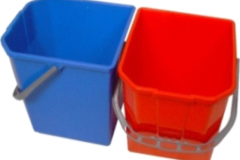25L SINGLE PLASTIC BUCKET RED OR BLUE